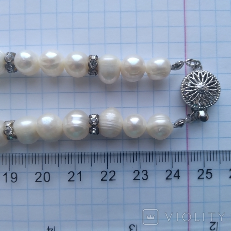 Намисто нове з перлин натуральних 52 см, фото №11