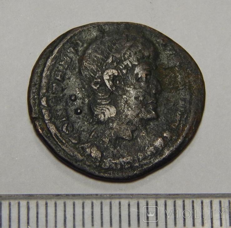 Бронзовая античная монета, фото №2