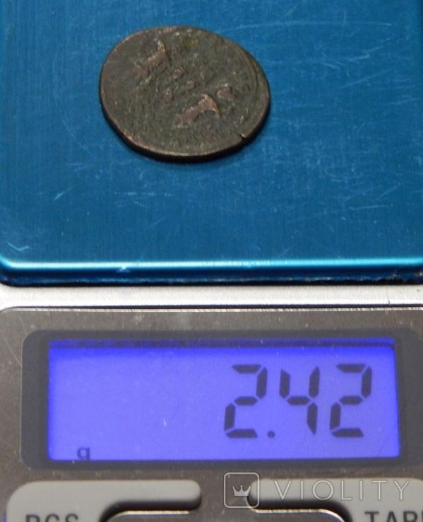 Бронзовая античная монета, фото №4