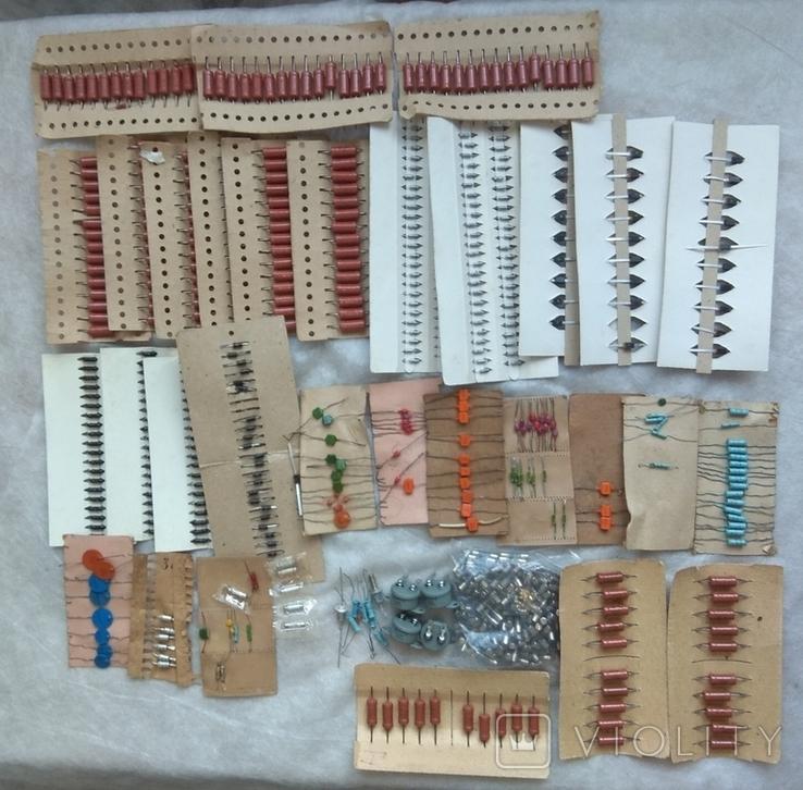 Радиодетали новые резисторы, конденсаторы,диоды,предохранители., фото №2