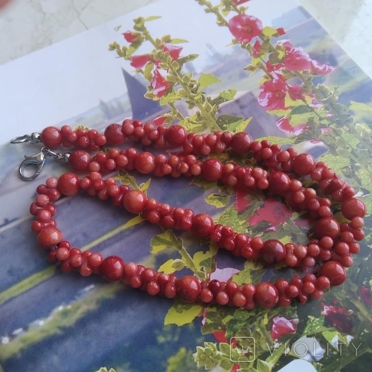 Намисто коралове червоне, фото №7
