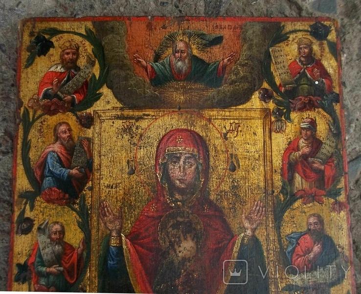 """Курская-Коренная икона Божией Матери """"Знамение."""" 19 век., фото №4"""