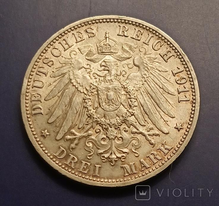 3 марки 1911 р. Вюртемберг. Весільна, фото №7