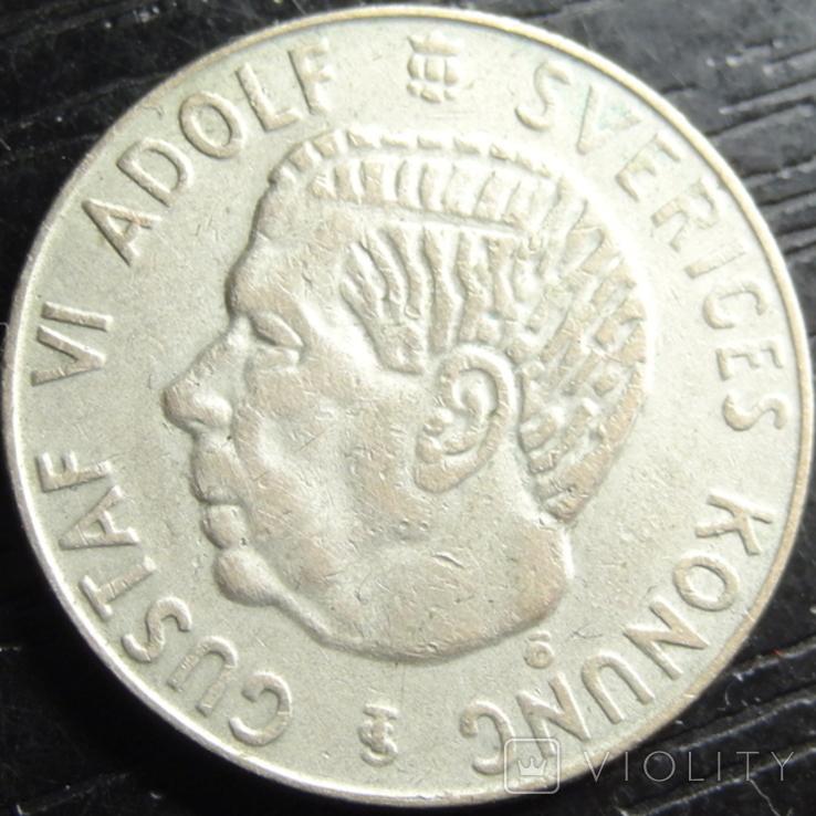 1 крона Швеція 1956 срібло, фото №4
