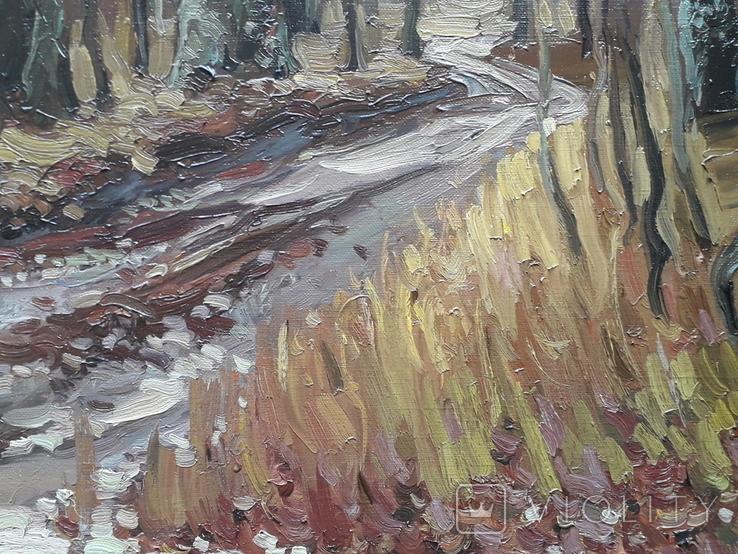 Дубовый лес. Этюд с натуры. х.м, фото №5