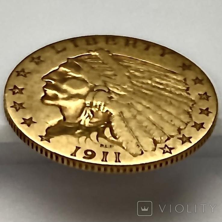 2,5 доллара. 1911. США (золото 900, вес 4,12 г), фото №11