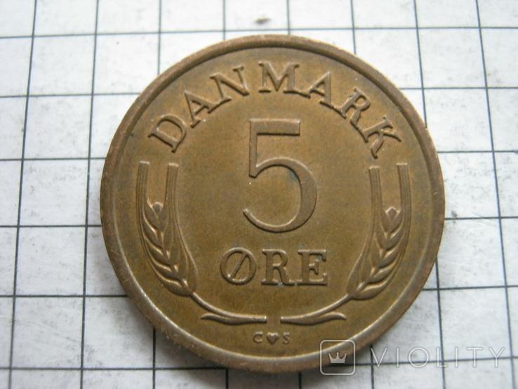 Дания 5 эре 1964 года, фото №3