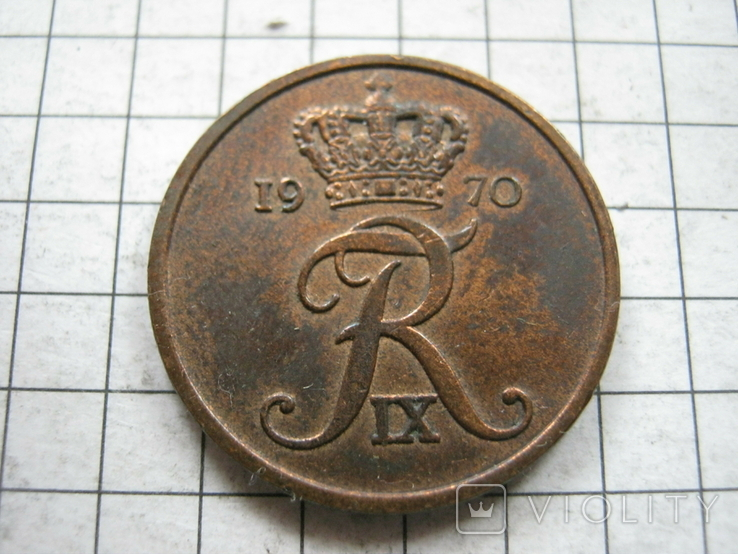 Дания 5 эре 1970 года, фото №2