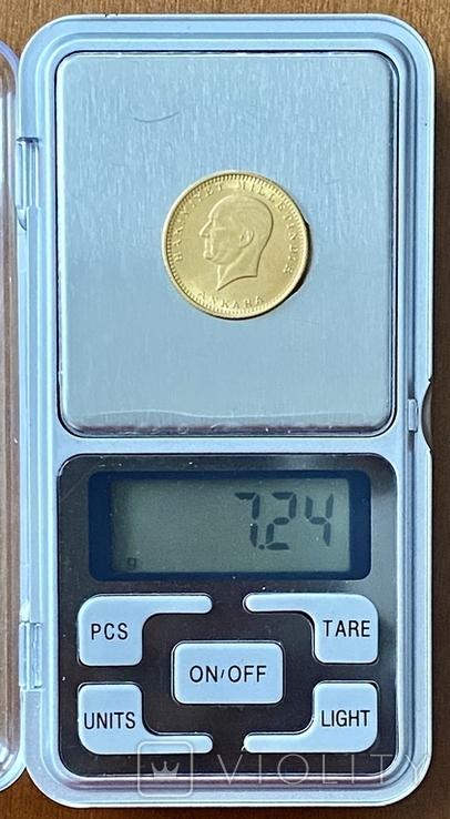 100 куруш. 1970. Турция (золото 917, вес 7,24 г), фото №10
