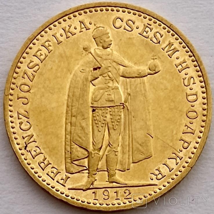 20 корон. 1912. Франц Иосиф I. Австро-Венгрия (золото 900, вес 6,80 г), фото №4