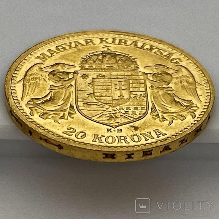 20 корон. 1912. Франц Иосиф I. Австро-Венгрия (золото 900, вес 6,80 г), фото №6