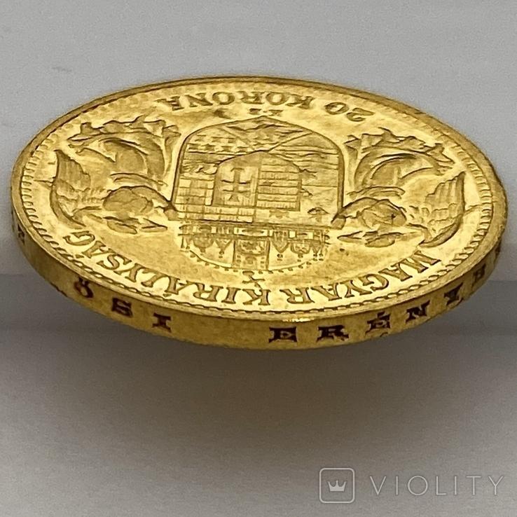 20 корон. 1912. Франц Иосиф I. Австро-Венгрия (золото 900, вес 6,80 г), фото №7