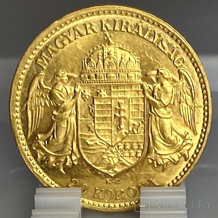 20 корон. 1912. Франц Иосиф I. Австро-Венгрия (золото 900, вес 6,80 г), фото №11
