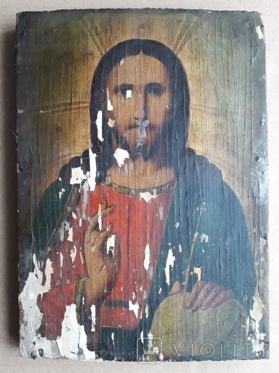 Икона 23.5 см х 17 см под Реставрацию, фото №2