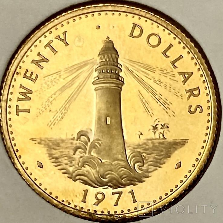 20 долларов. 1971. Багамские острова (золото 917), фото №7