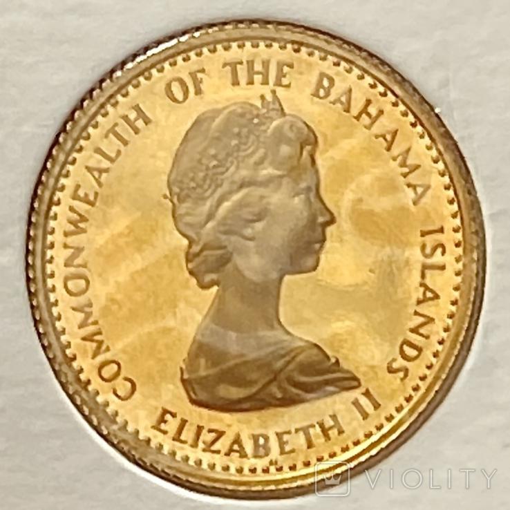20 долларов. 1971. Багамские острова (золото 917), фото №9