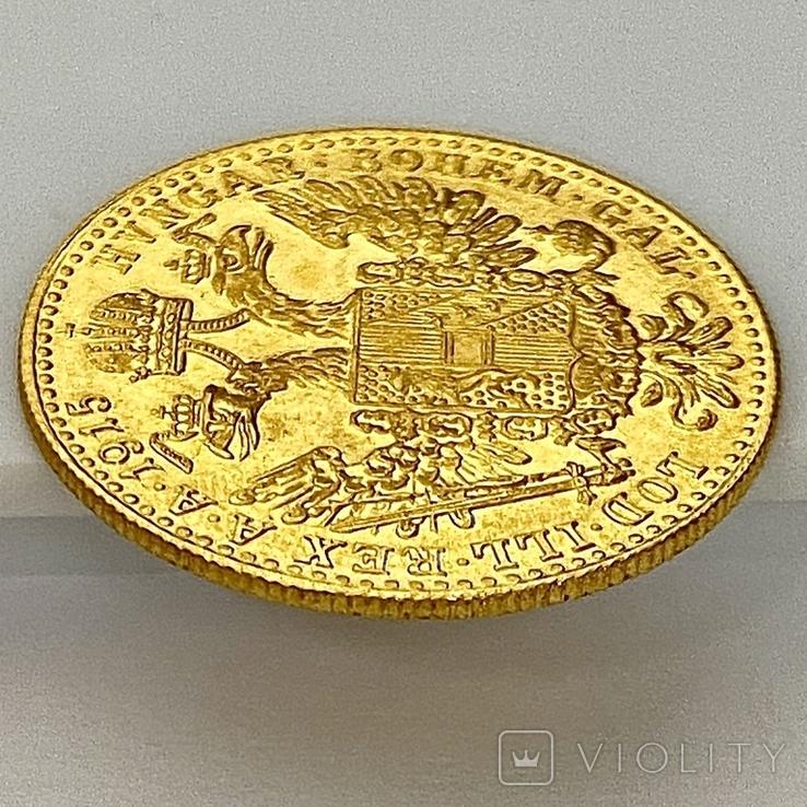 1 дукат. 1915. Франк Иосиф. Австрия (золото 986, вес 3,48 г), фото №6