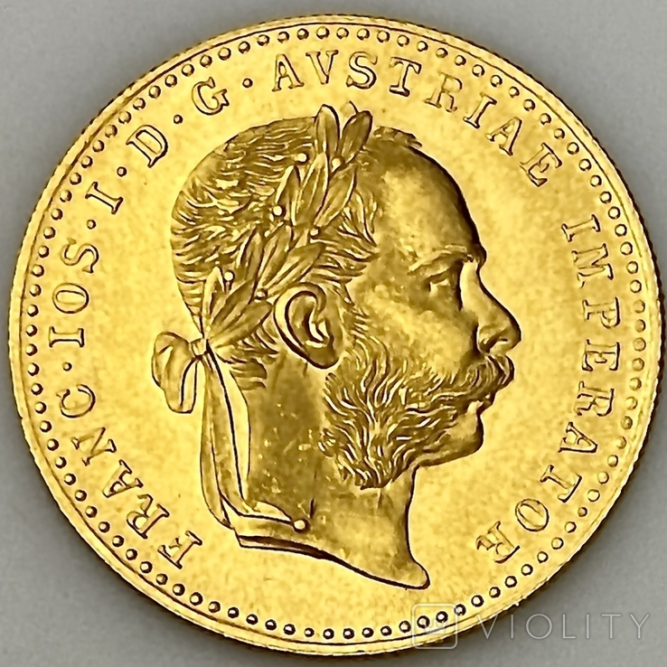 1 дукат. 1915. Франк Иосиф. Австрия (золото 986, вес 3,48 г), фото №2