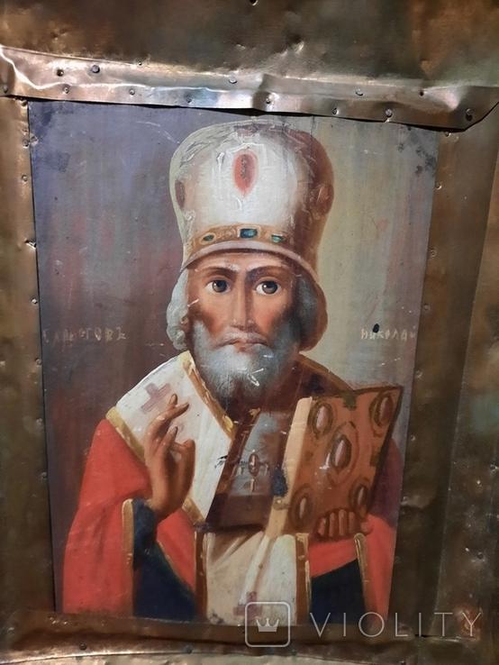 Икона Николай 51х46х10 см, фото №6