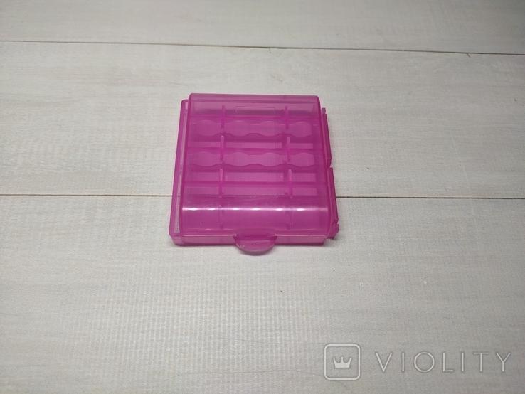 Оробка, бокс, кейс, Футляр для пальчиковых батареек АА или мини ААА Фиолетовый