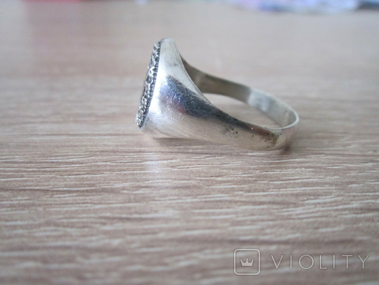 Перстень парашютиста Люфтваффе Серебро.Копия, фото №5