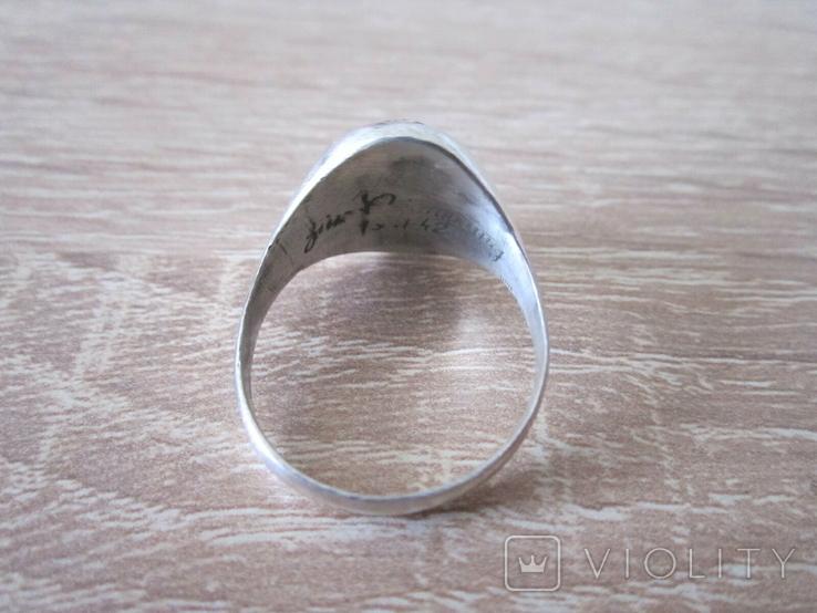 Перстень парашютиста Люфтваффе Серебро.Копия, фото №6