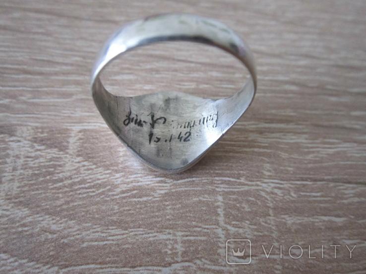 Перстень парашютиста Люфтваффе Серебро.Копия, фото №7