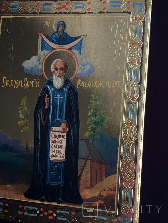 Икона Сергей Радонежский, фото №6