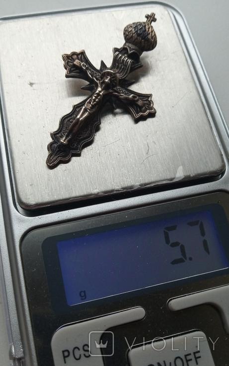 Крест , серебро 925 пр. с трезубом, фото №10