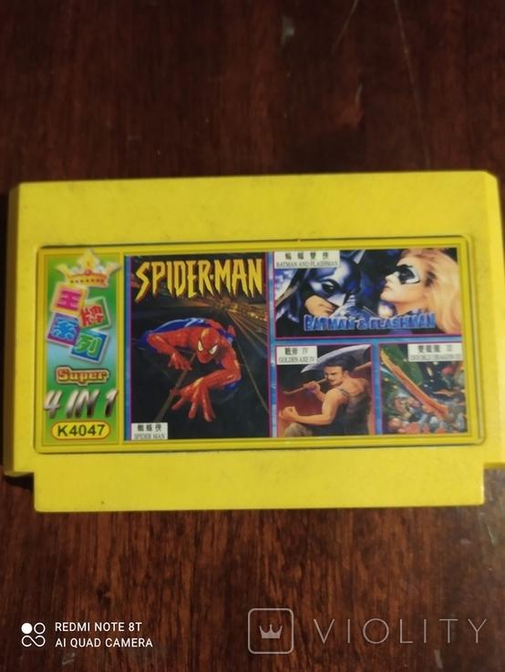Картридж для Dendy 4 в 1 Spider Man, Batman и тд., фото №2