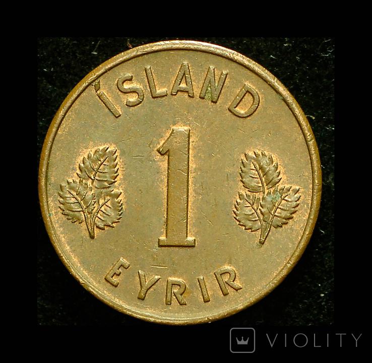 Исландия 1 эре 1946 Unc, фото №3