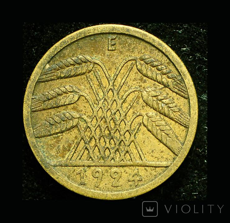 Германия 5 пфеннигов 1924, фото №3