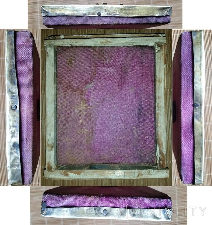 Ікона Микола Чудотворець, латунь 13,3х11,2 см, кіот, фото №12