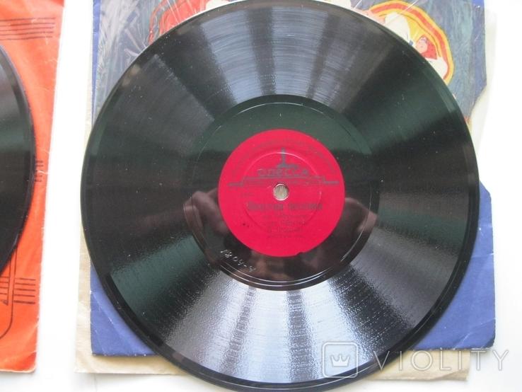 Пластинка патефонная 20см.В.Трошин-М.Бернес, фото №3