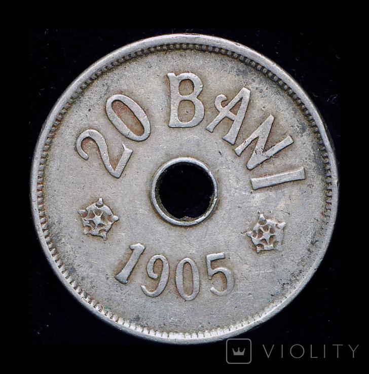 Румыния 20 бани 1905, фото №2