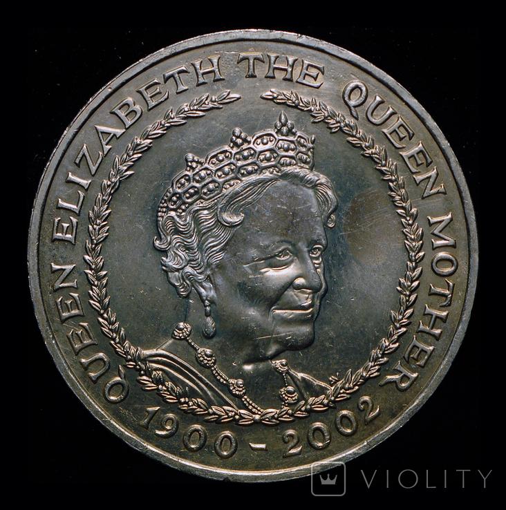 Великобритания 5 фунтов 2002  Королева мать, фото №2