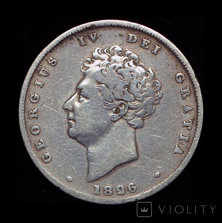 Великобритания шиллинг 1826 серебро, фото №2