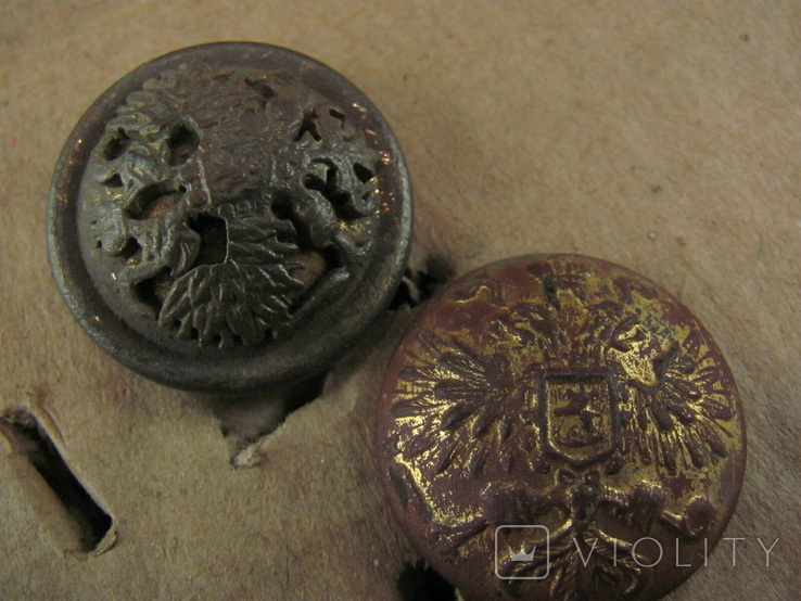 Пуговицы позолота , накладной орел ., фото №4