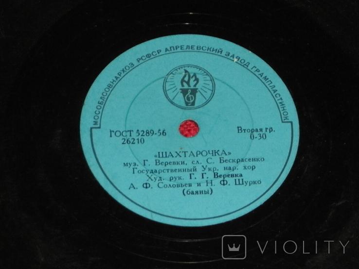 Виниловая пластинка из СССР.№21, фото №2