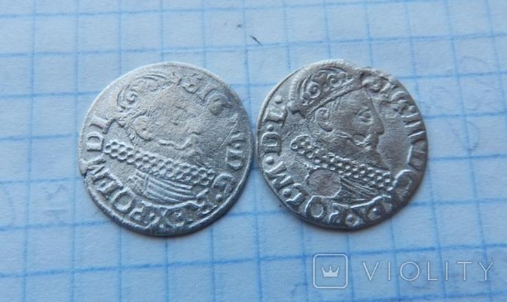 Три гроша Сигизмунда 3 ( 2 шт.), фото №3