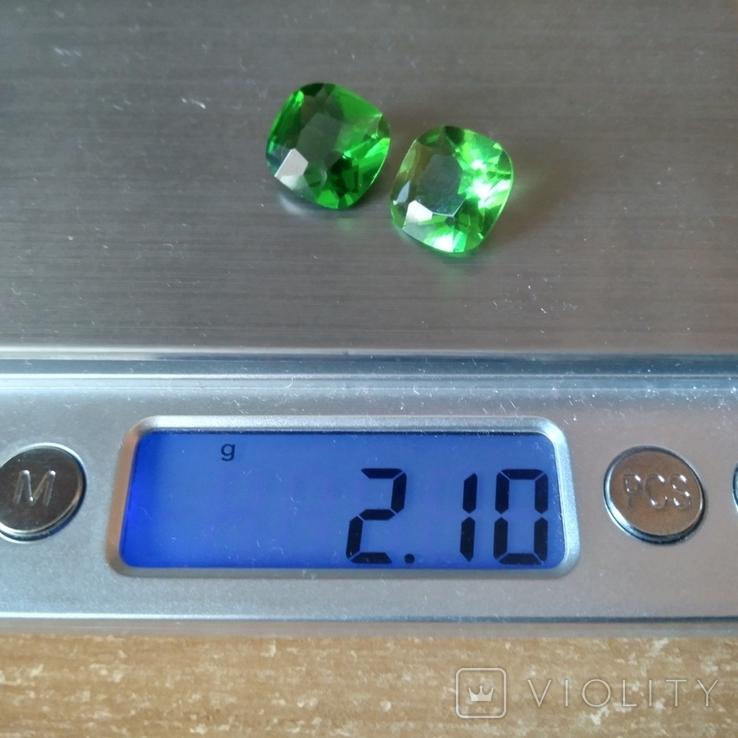 Камені із старовинних прикрас 2 шт. (зелені), фото №10