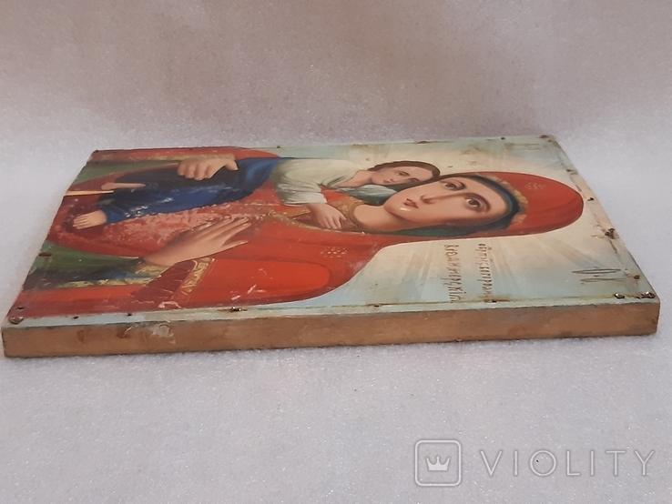 Икона Богородицы 29,5х22,5 см, фото №10