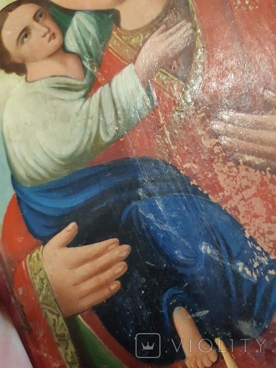 Икона Богородицы 29,5х22,5 см, фото №12