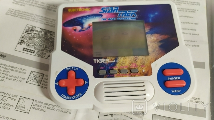 Портативная электронная игра Star Trek. Tiger 1988 год винтаж, фото №6