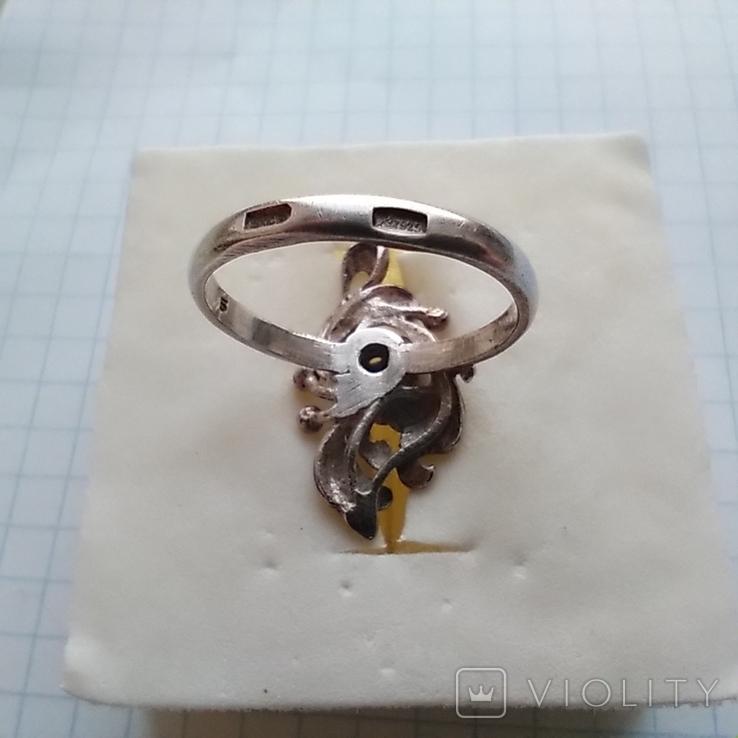 Перстень срібний 925 СССР з бірюзою 4г (р.18 - 18,5), фото №7