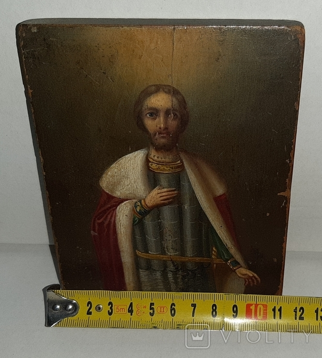 Икона Святой Благоверный князь Александр, фото №12
