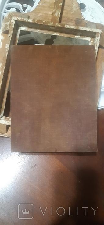 Икона в киоте св. Николай серебро позолота, фото №5