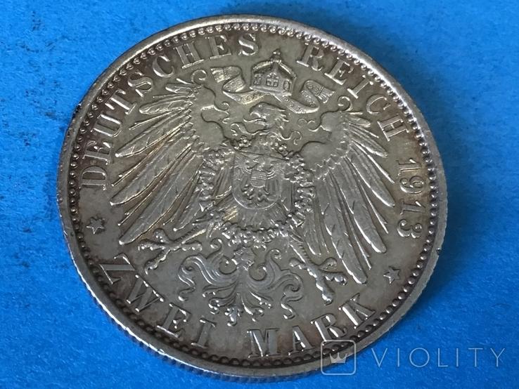 2 марки 1913 г. Пруссия, фото №3