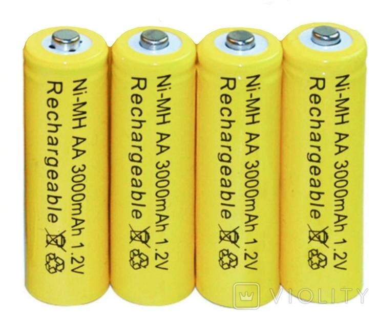 Аккумуляторы АА 3000mAh 4 шт. + футляр, фото №3