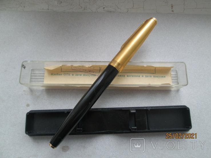 Ручка с позолоченым пером, фото №3